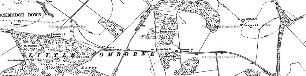 Old map of Woolbury in 1894