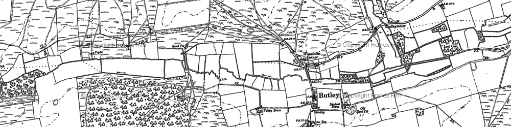 Old map of Butley in 1881
