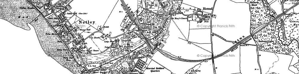 Old map of Weston Common in 1895