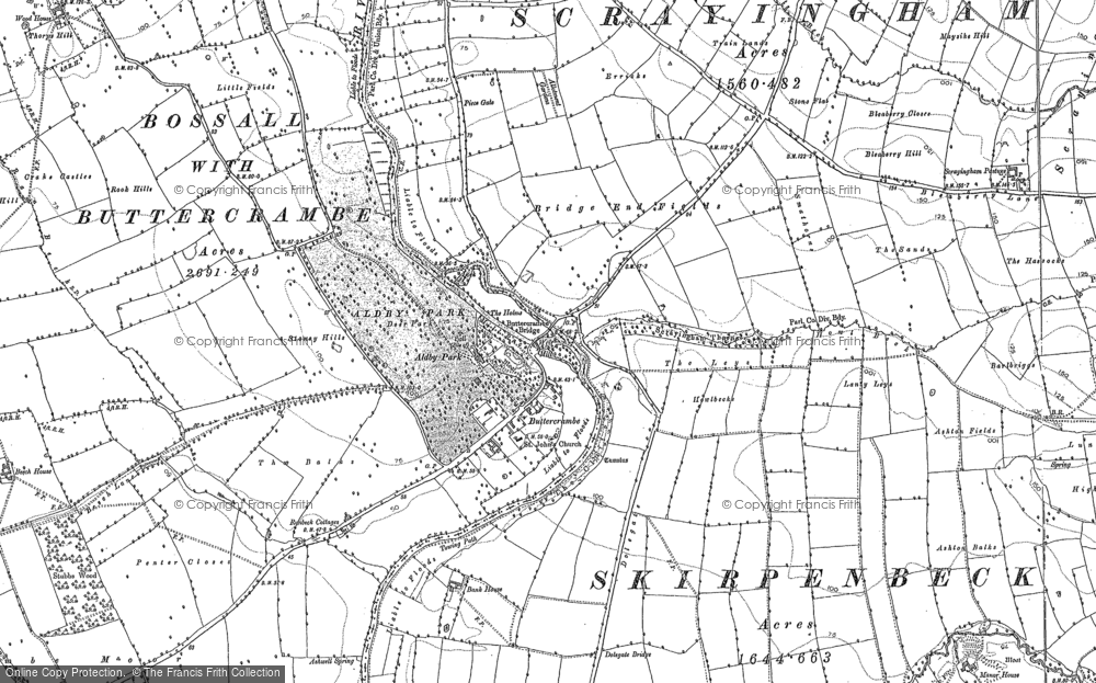 Old Map of Historic Map covering Aldby Park in 1891