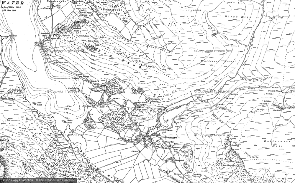 Old Map of Historic Map covering Ling Comb in 1898