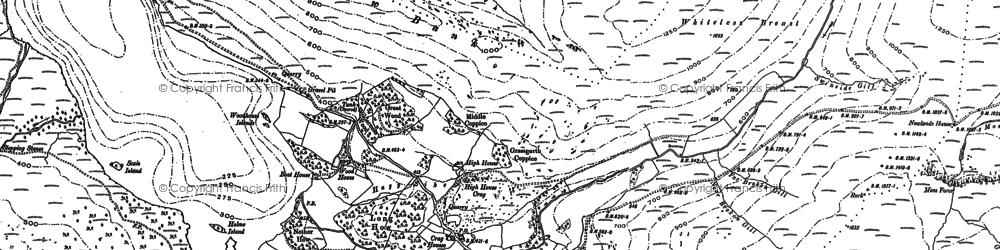 Old map of Whiteless Breast in 1898
