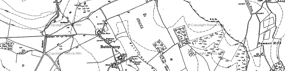 Old map of Ballyack Ho in 1909
