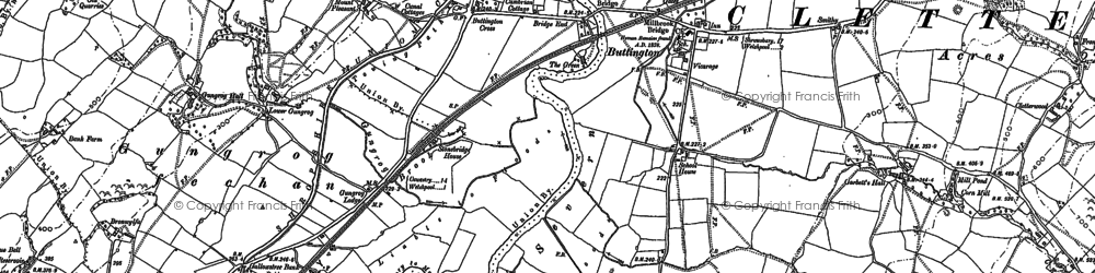 Old map of Buttington in 1884