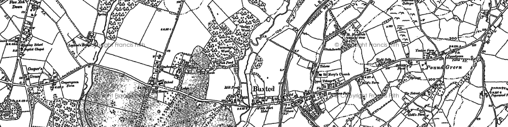 Old map of Buxted in 1873