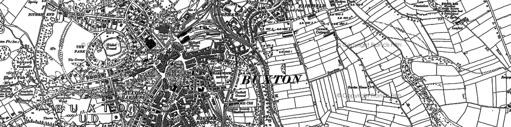 Old map of Buxton in 1897