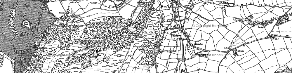 Old map of Bwlch in 1886
