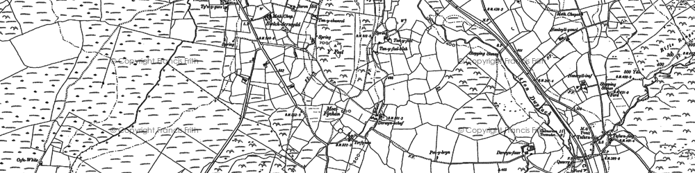 Old map of Y Foel in 1899
