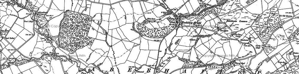 Old map of Alltyffynnon in 1884