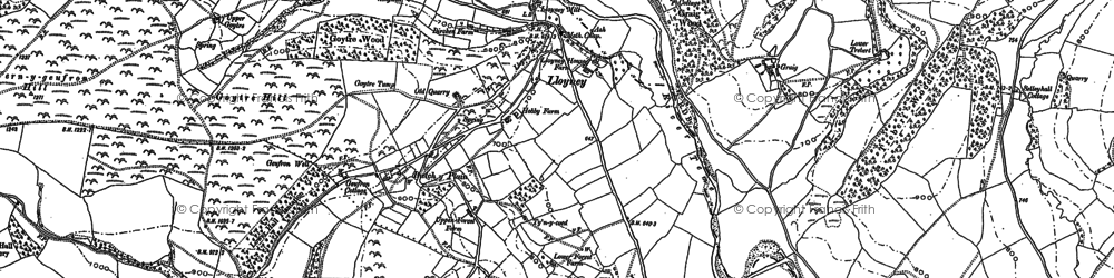 Old map of Bwlch-y-Plain in 1887