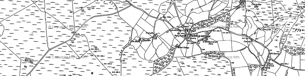 Old map of Bailey Bog in 1888