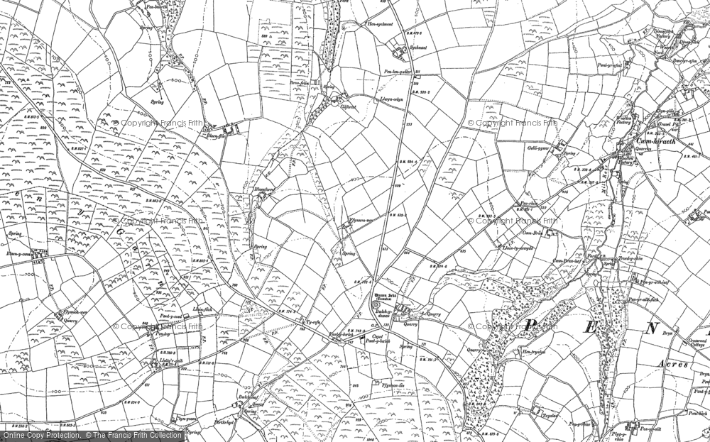 Old Map of Historic Map covering Tomenseba in 1887