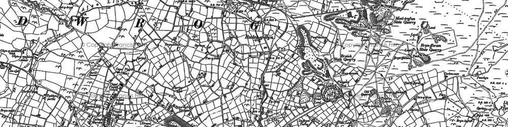 Old map of Y Fron in 1888