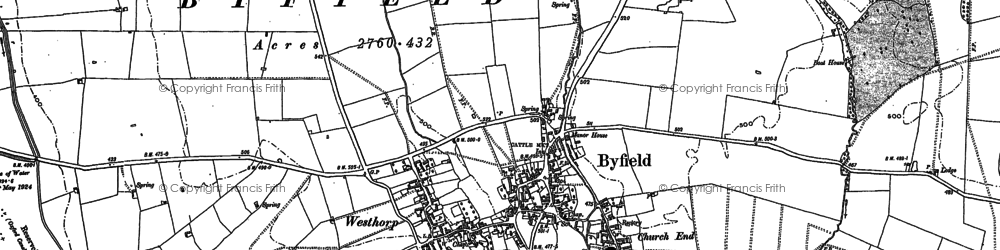 Old map of Westhorp in 1899