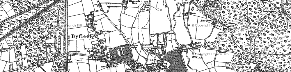 Old map of Byfleet in 1895