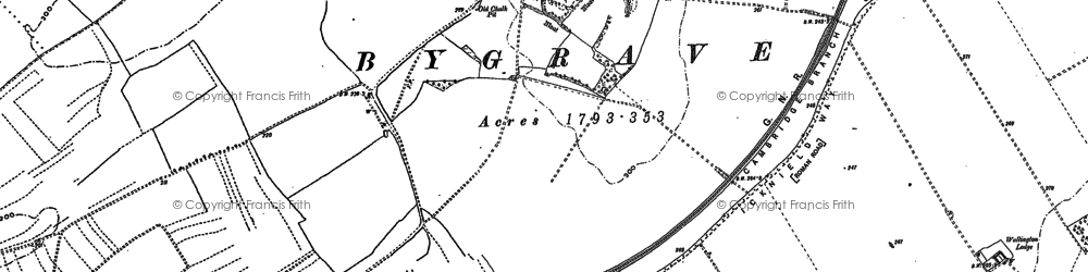 Old map of Bygrave in 1896