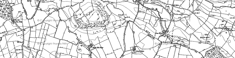 Old map of Byland Abbey in 1891