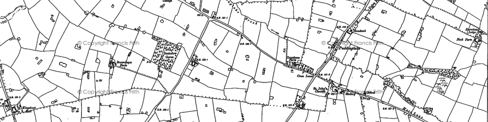 Old map of Yatehouse Green in 1897