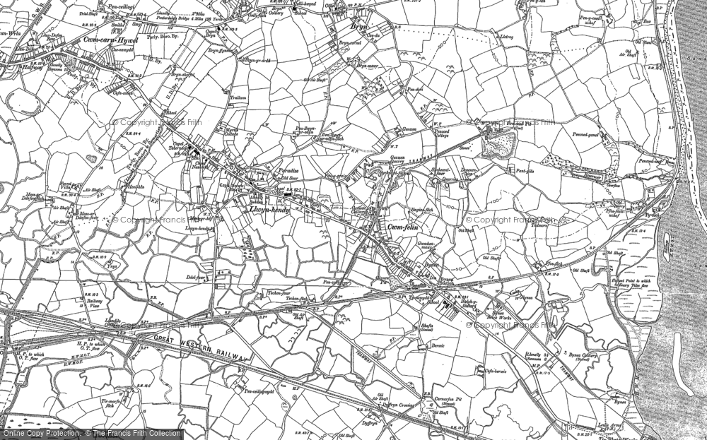 Old Map of Historic Map covering Tir Morfa in 1905