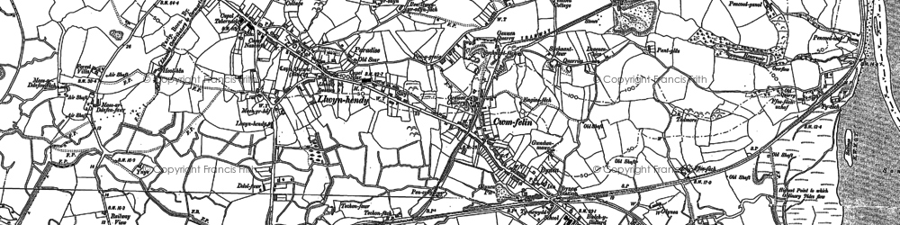 Old map of Tir Morfa in 1905