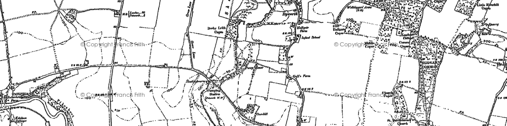 Old map of Byworth in 1896