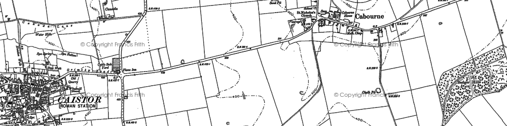 Old map of Badger Hills in 1887