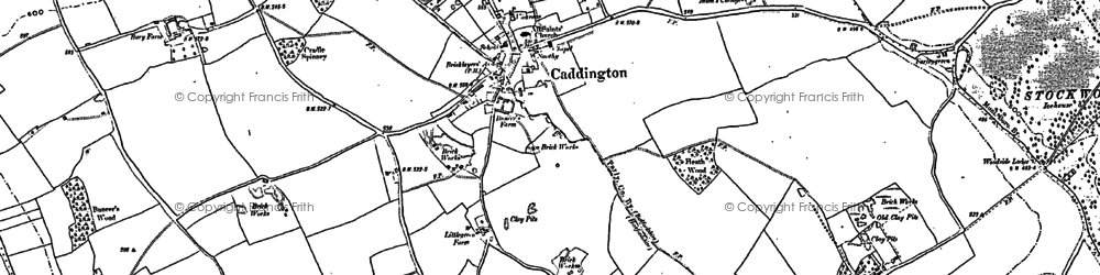 Old map of Caddington in 1879