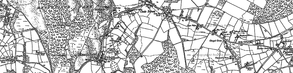 Old map of Cade Street in 1897