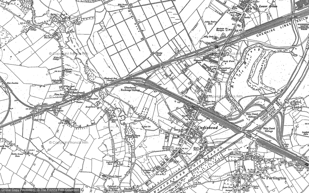 Old Map of Cadishead, 1894 - 1905 in 1894