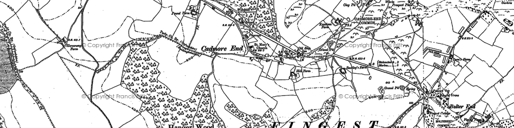 Old map of Leygrove's Wood in 1897
