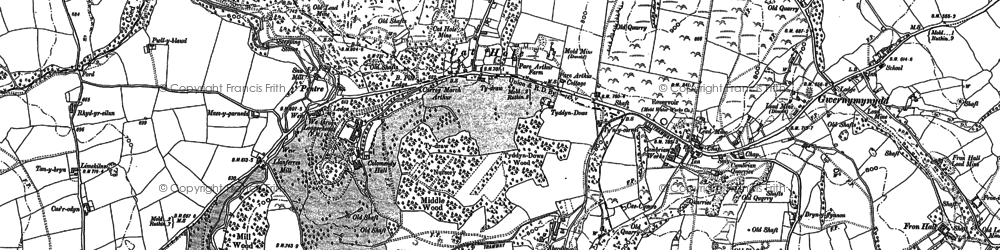 Old map of Cadole in 1898