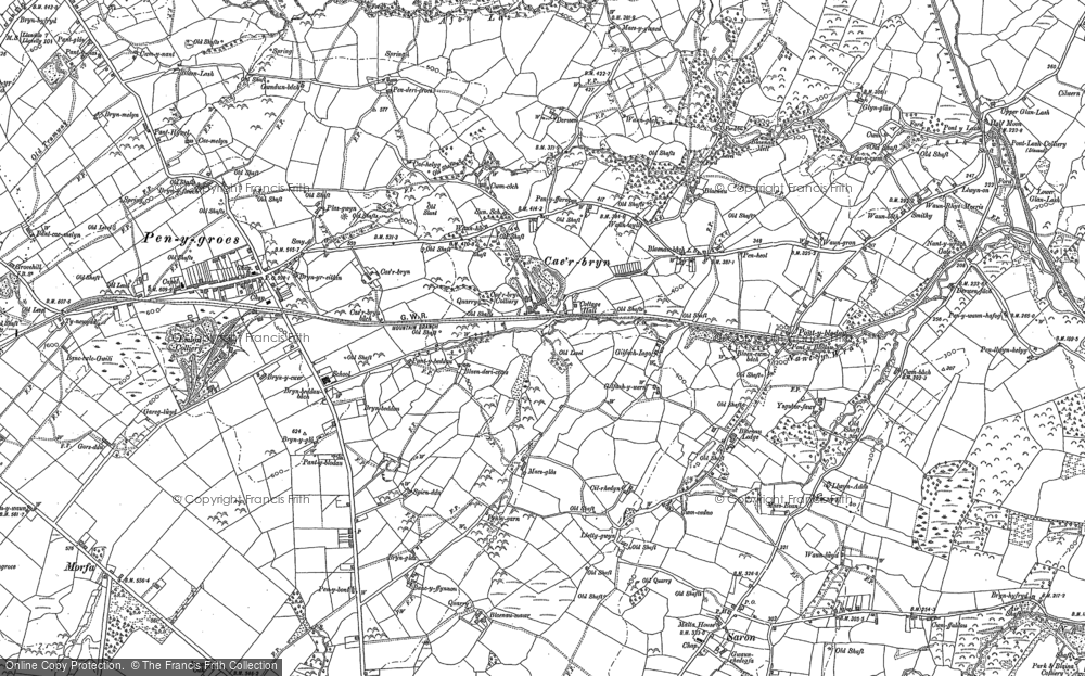 Old Map of Historic Map covering Afon Lash in 1905