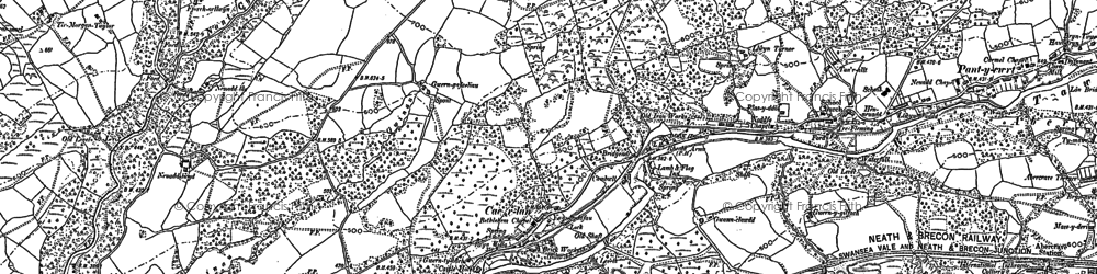 Old map of Cae'r-Lan in 1903