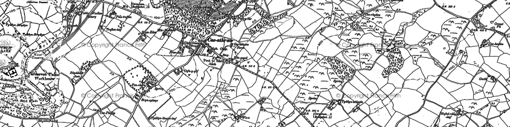 Old map of Ysbytty in 1888