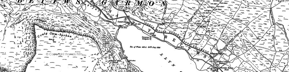 Old map of Afon Treweunydd in 1887