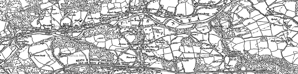 Old map of Caehopkin in 1903