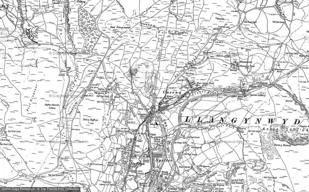 Old Map of Caerau, 1875 - 1897 in 1875