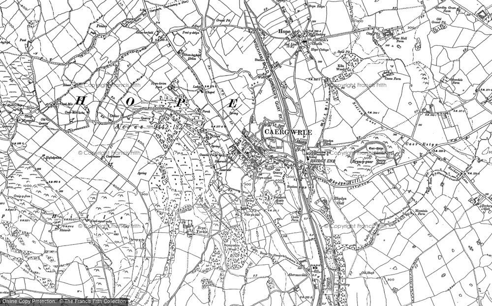 Old Map of Historic Map covering Abermorddu in 1898