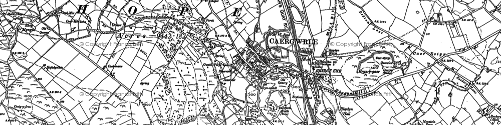 Old map of Abermorddu in 1898