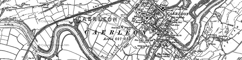 Old map of Caerleon in 1899
