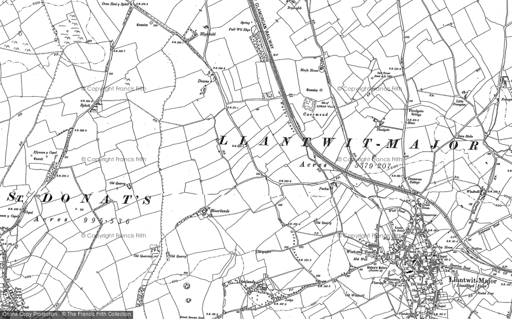 Old Map of Caermead, 1897 in 1897