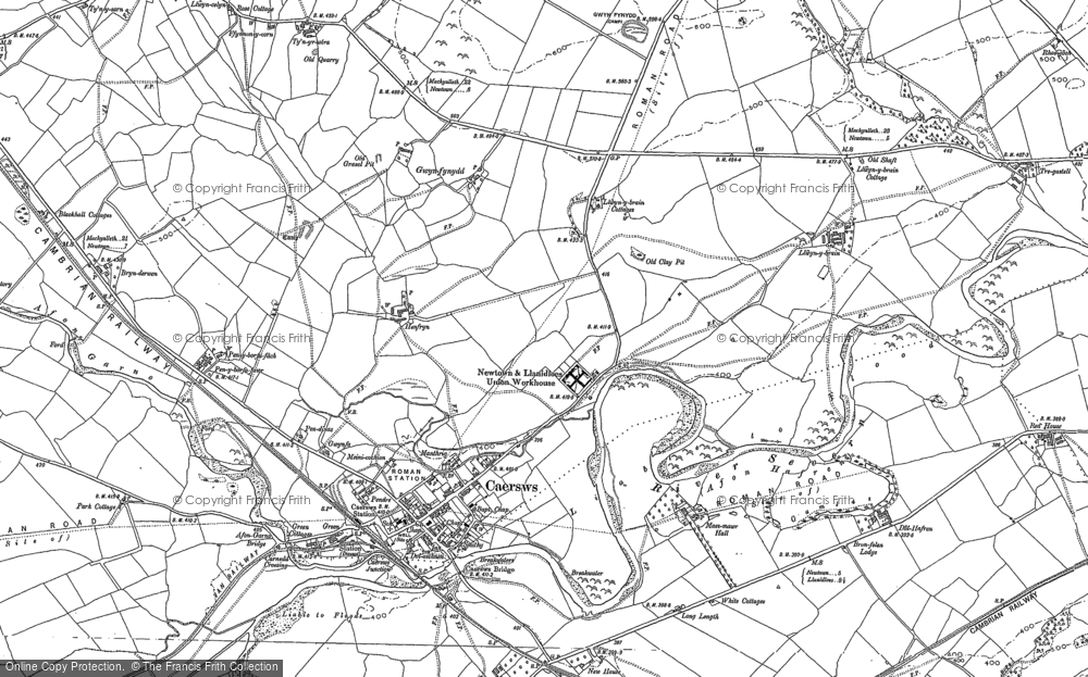 Old Map of Caersws, 1884 - 1885 in 1884
