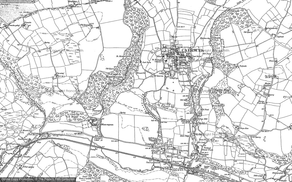Old Map of Historic Map covering Rhos in 1898