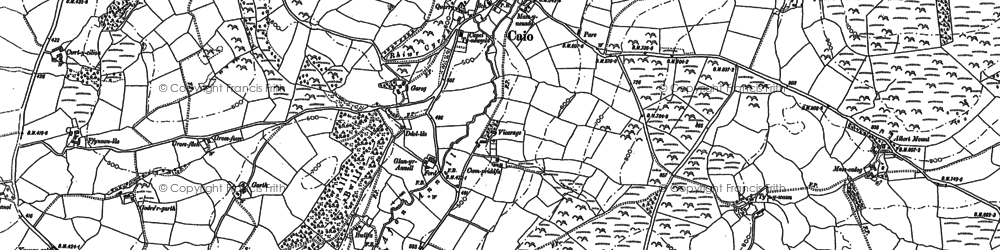 Old map of Banc Bronffin in 1886