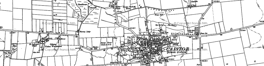 Old map of Whitegate Hill in 1886