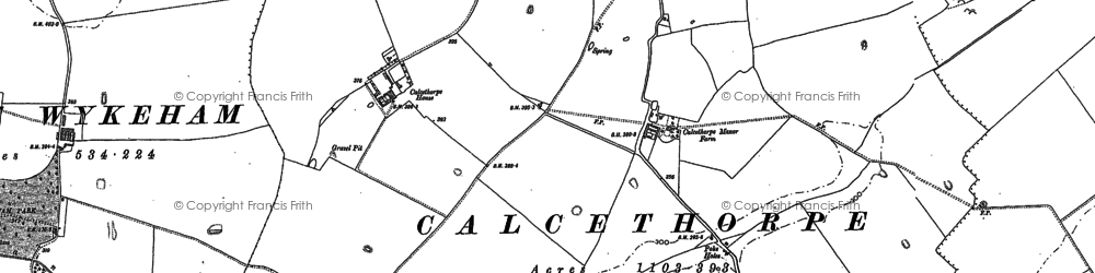 Old map of Wykeham Hall in 1887