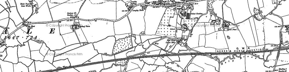 Old map of Calcot in 1898