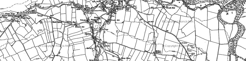 Old map of Whelpo in 1899