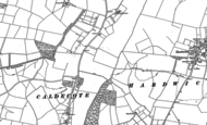 Old Map of Caldecote, 1886