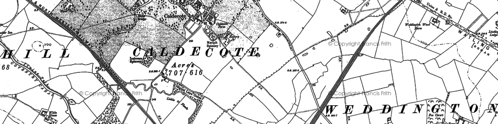 Old map of Woodford Br in 1901